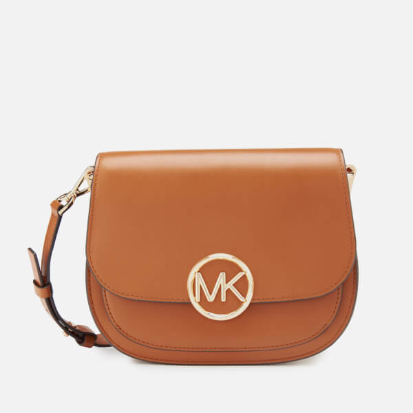 8e010fafe16f MICHAEL MICHAEL KORS Women's Lillie Medium Saddle Messenger Bag - Acorn:  Image 1