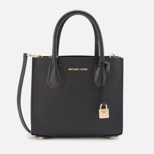 MICHAEL MICHAEL KORS Women's Mercer Medium Acordian Messenger Bag - Black