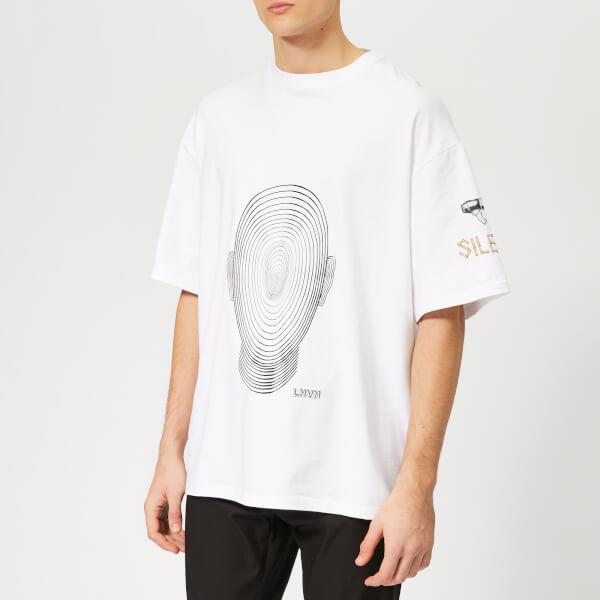 Lanvin Men's Big Face T-Shirt - White