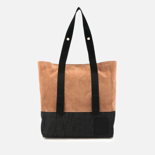 Lanvin Men's Suede Tote Bag - Black/Light Brown