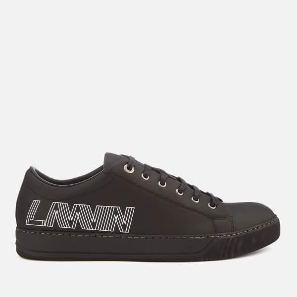 Lanvin Men's Low Top Logo Sneakers - Black