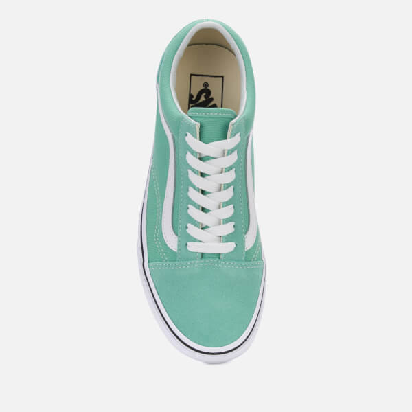 71c83f7d3d6c Vans Women s Old Skool Trainers - Neptune Green True White Womens ...