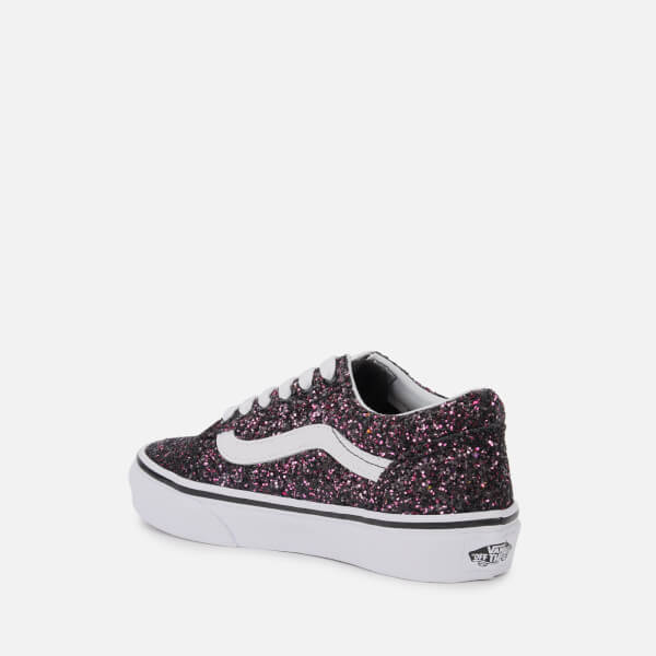 f7090f18b43c Vans Kids  Glitter Stars Old Skool Trainers - Black True White  Image 2
