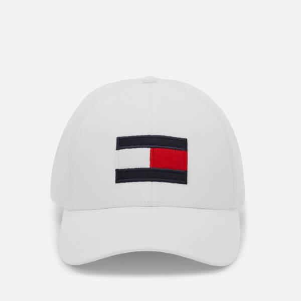 Tommy Hilfiger Men's Large Flag Baseball Cap - Bright White