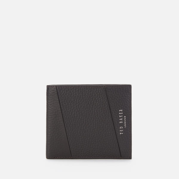 Ted Baker Men's Fitzip Seamed Bifold Wallet - Chocolate