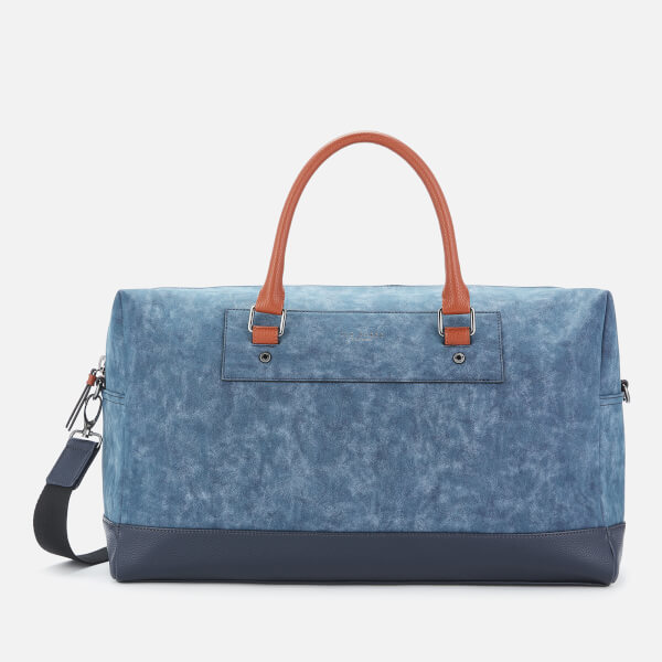 ea231bad6e42 Ted Baker Men's Mackers Nubuck Holdall Bag - Navy: Image 1