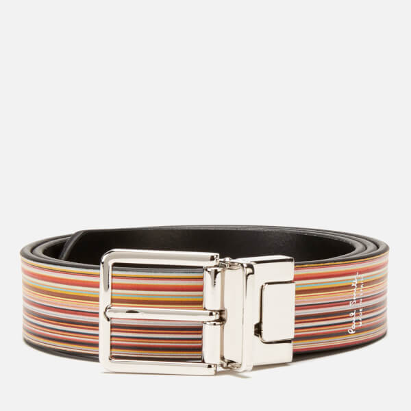 Paul Smith Men's Stripe Reversible Belt - Multi