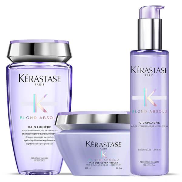 Kérastase Blond Absolu Bain Lumiere Shampoo, Treatment and Masque Trio