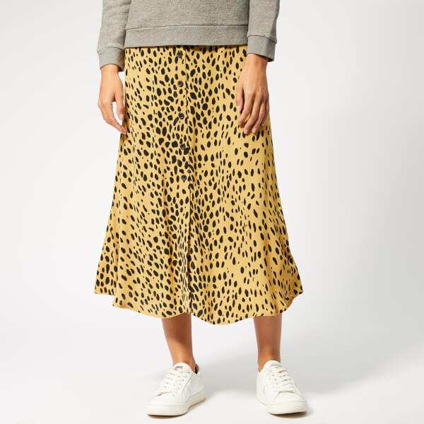Whistles Women's Animal Print Midi Skirt - Cream/Multi