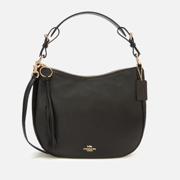 Coach Women's Leather Sutton Hobo Bag - Black