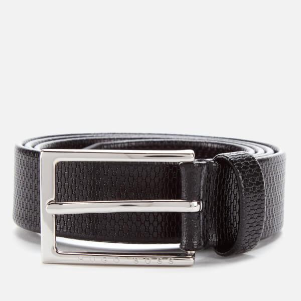 BOSS Men's Cedy Embossed Belt - Black
