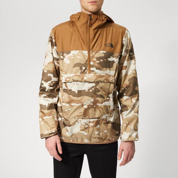 The North Face Men's Novelty Fanorak Jacket - Moab Khaki Woodchip Camo Desert Print