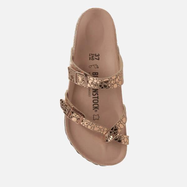 28a4b334db5 Birkenstock Women s Mayari Slim Fit Double Strap Sandals - Metallic Stones  Copper  Image 3