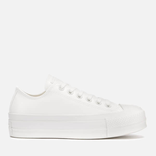 Converse Women's Chuck Taylor All Star Lift Ox Trainers - Vintage White/Vintage White