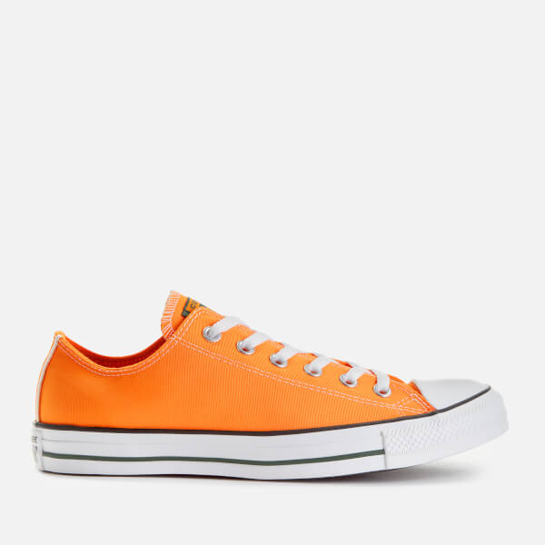 Converse Men's Chuck Taylor All Star Ox Trainers - Orange Rind/Fir/White