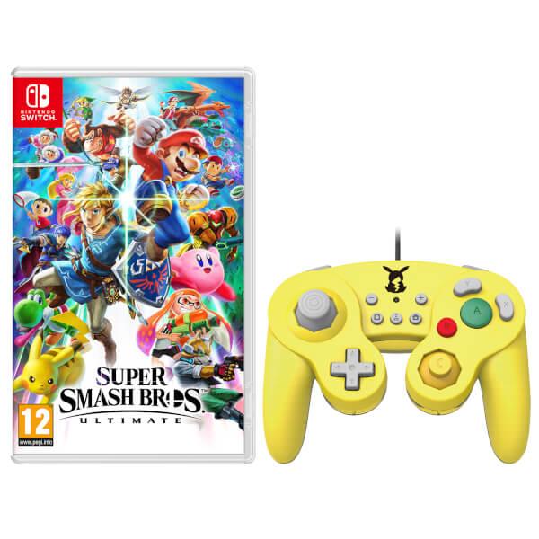 Super Smash Bros. Ultimate + Battled Pad - Pikachu