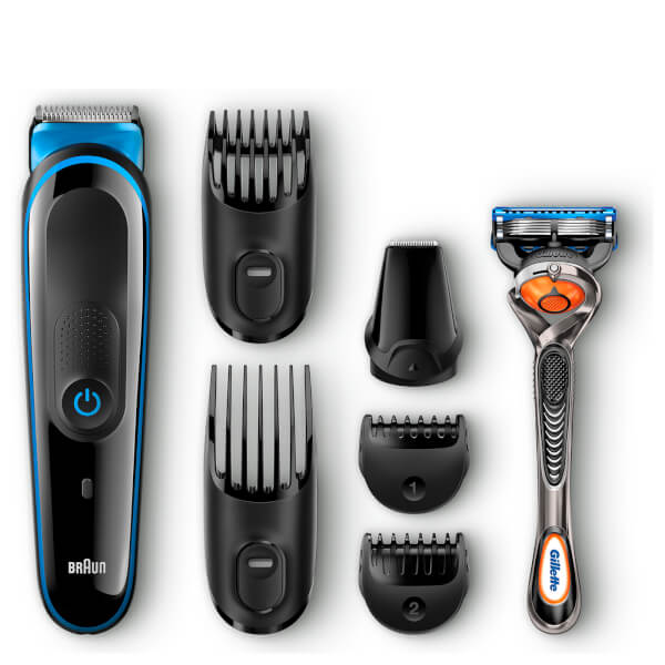 Braun MGK3045 7-in-1 Precision Trimmer Multi Grooming Kit - Black/Blue