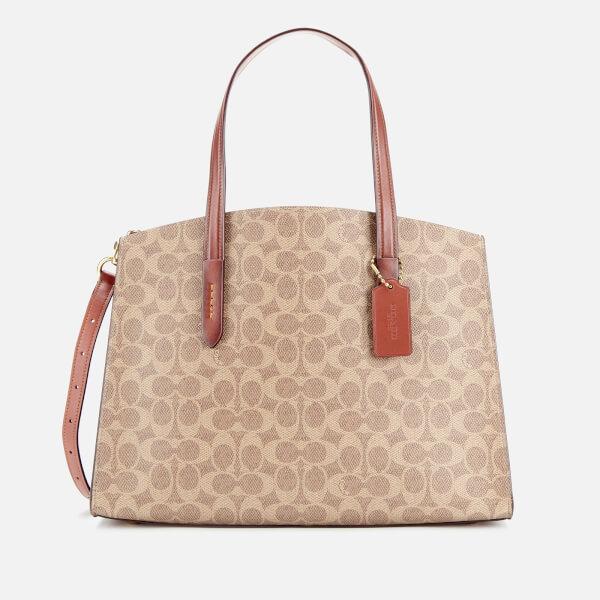Coach Women's Signature Charlie Carryall Bag - Rust