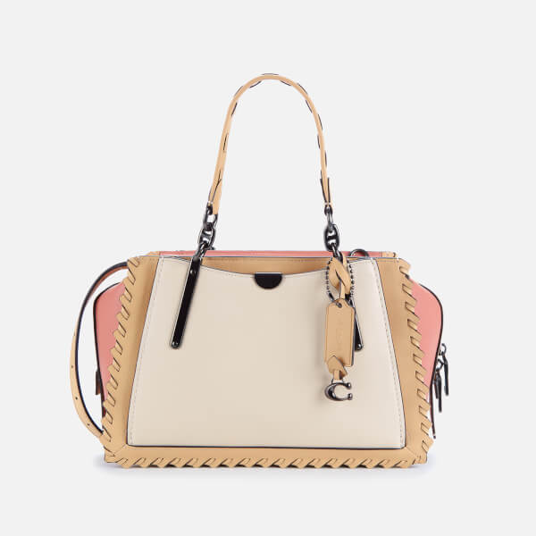 Coach Women's Whipstitch Colorblock Dreamer Shoulder Bag - Ivory Multi