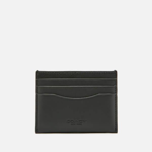 Coach Women's Glovetan Flat Card Case - Black