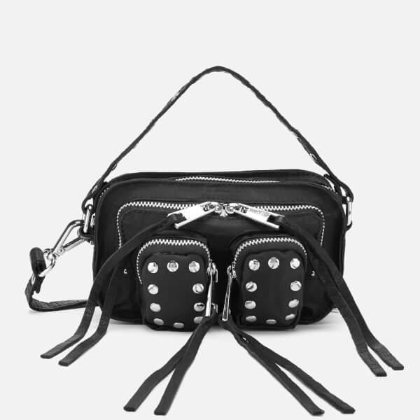 Núnoo Women's Helena Sport/Leather Cross Body Bag - Black