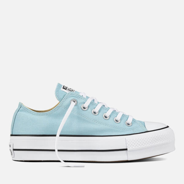 15103a03ad0c Converse Women s Chuck Taylor All Star Lift Ox Trainers - Ocean Bliss White  Black