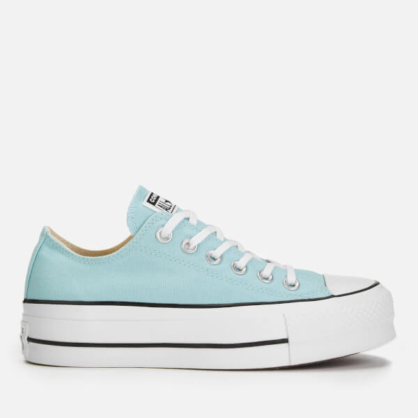 Converse Women's Chuck Taylor All Star Lift Ox Trainers - Ocean Bliss/White/Black