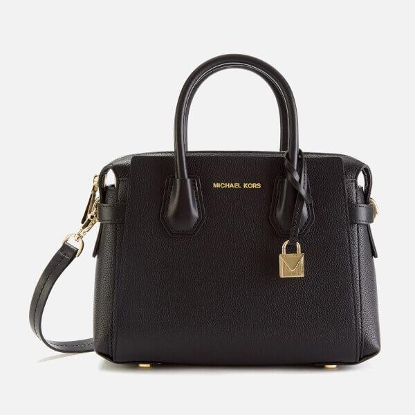 MICHAEL MICHAEL KORS Women's Mercer Belted Small Satchel Bag - Black