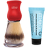 men-ü DB Premier Shave Brush with Chrome Stand - Red: Image 1
