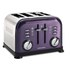 Morphy Richards 4 Slice Accents Toaster - Plum: Image 1