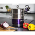 Morphy Richards 46383 3 Tier Steamer - Plum - 18cm: Image 2