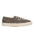 Superga Women's 2750 Spotted Classic Trainers - Beige/Blue: Image 1