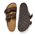 Birkenstock Men's Arizona Double Strap Sandals - Dark Brown: Image 5