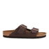Birkenstock Men's Arizona Double Strap Sandals - Dark Brown: Image 1