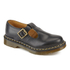 Dr. Martens Women's Core Polley Smooth Leather T-Bar Flat Shoes - Black: Image 2