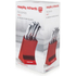 Morphy Richards 46291 5 Piece Knife Block - Red: Image 5