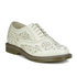 Dr. Martens Women's Kensington Aila Skull Etched 5-Eye Leather Shoes - Off White: Image 5