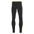 Skins Men's A200 Thermal Long Compression Tights - Black/Yellow: Image 2