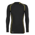Skins Men's A200 Thermal Long Sleeve Compression Mock Neck Top - Black/Yellow: Image 1
