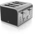 Swan ST17010BN 4 Slice Toaster - Black: Image 1
