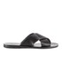 Ancient Greek Sandals Women's Thais Perforated Leather Slide Sandals - Black: Image 1