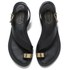 Ted Baker Women's Prendie Toe Post Leather Sandals - Black/Gold: Image 2