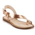 Ted Baker Women's Prendie Toe Post Leather Sandals - Orange/Light Pink: Image 5