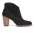 UGG Women's Charlotte Suede Heeled Ankle Boots - Black: Image 1