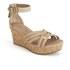 UGG Women's Lillie Suede Wedged Sandals - Wet Sand: Image 5