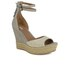 UGG Women's Devan Suede Wedged Sandals - Oyster: Image 5