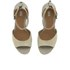 UGG Women's Devan Suede Wedged Sandals - Oyster: Image 2