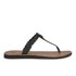 UGG Women's Bria Leather Flip Flops - Black: Image 2