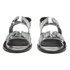 Folk Women's Lore Ruffle Detail Two Part Leather Sandals - Silver: Image 4
