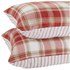 Catherine Lansfield Tartan Housewife Pillowcase - Pair - Red: Image 4